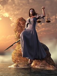 Blind Justice with Scales and Sword-Daniel Eskridge