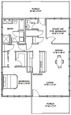 28x32 houses 1 bedroom 1 bath pdf floor by for 28x32 floor plan