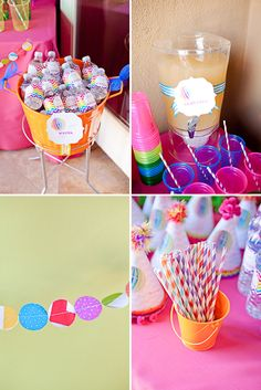 Colorful Hot Air Balloon Birthday Party