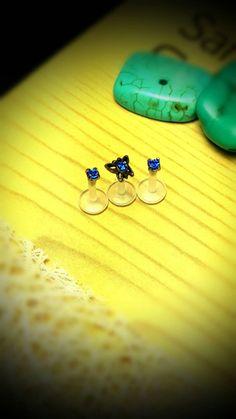 "3Pcs Butterfly Blue Sapphire Bioplast Triple Cartilage Tragus Earring Ring Forward Helix 16g 1/4"" Piercing Barbell Surgi Steel Jewelry Stud by ABodyJewelry on Etsy https://www.etsy.com/listing/250354904/3pcs-butterfly-blue-sapphire-bioplast"
