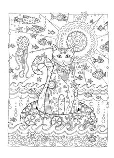 Adult Coloring Book Cat Best Of Creative Cats Coloring Page Dover Cat Coloring Page, Animal Coloring Pages, Coloring Book Pages, Printable Coloring Pages, Coloring Sheets, Free Adult Coloring, Cat Colors, Colorful Pictures, Drawings