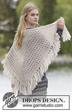Pitsineuleinen DROPS hapsuhuivi Brushed Alpaca Silk -langasta. Ilmaiset ohjeet DROPS Designilta.