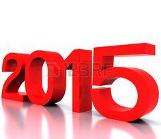 Aquí viene el nuevo año 2015 - 3D Foto de archivo.