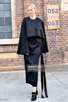 Model Gemma Ward attends MercedesBenz Fashion Week Australia 2015 at Carriageworks on April 12...