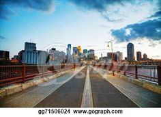 """Downtown Minneapolis, Minnesota at night time"" -Minnesota Stock Photo from gograph.com"