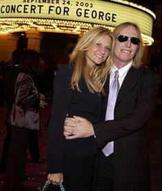 Tom Petty with wife Dana at Tribute to George Harrison Concert, September 2003