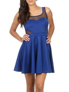 Mesh Fit N Flare Dress from ArdenB.com-- This would so complement my shape... #skinny