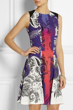 Printed crepe dress on Luvocracy