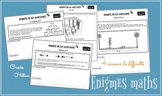 Enigmas to place students in a research situation - Kids Party Ideas Autism Education, Education Quotes, Fun Math, Math Games, Math College, Curriculum, Homeschool, Grade 6 Math, School Organisation