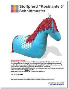 free pattern - großes Sitz-Stoffpferd Schnittmuster kostenlos