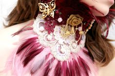 Vintage Inspired Neck Corset Choker by cosmiksouls on Etsy, $370.00