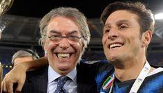 Zanetti hugs the president