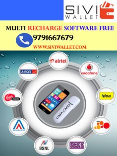 We provide online all mobile and Web based recharge software.Support mobile,DTH,Data card,pospaid bill, electricty bill payment etc. To Start recharge business you have to sign up free with us www.siviwallet.com contact:9791667679 #SIVI_WALLET #MOBILE_RECHARGE