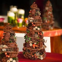 Pine Cone christmas table decoration