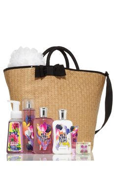 Bath & Body Works | Get this Wild Berry Tulips V.I.P. Bag filled with 7 goodies worth over $100 for only $20 with any 40+ purchase.