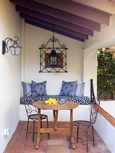 Match your metal to the decade to compelete a vintage-style patio: http://www.bhg.com/home-improvement/porch/outdoor-rooms/vintage-outdoor-living-ideas/?socsrc=bhgpin040215mindyourmaterials&page=17