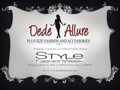Plus Size Fashion News: Plus Size Fashion Retailer Dede Allure To Be A Part of LA Style Fashion Week - PLUS Model Mag