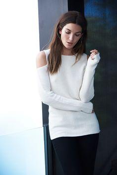 Avril Cold Shoulder Cashmere Sweater, Velvet by Graham and Spencer. http://velvet-tees.com/avril-cold-shoulder-cashmere-sweater.html