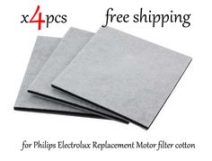 4 Unids/lote Electrolux Aspiradora HEPA Filtro para Philips Motor de Repuesto filtro filtro de algodón viento de salida del filtro de entrada de aire