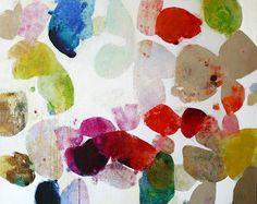 "Fallen Petals:  48"" x 60"" ink, oil, oil crayon, & charcoal on canvas, 2012 @ SMINK"