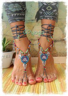 FELIZ sandalias Lotus descalzo pie joyería símbolo del por GPyoga