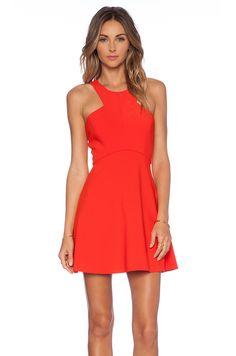 NBD NBD x Naven Twins Believe Me Skater Dress in Poppy Red