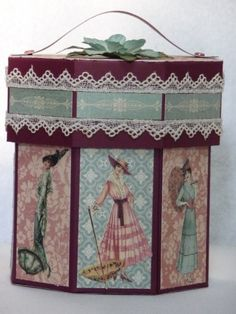 Graphic 45 Octagon Box by LilyLynn - Cards and Paper Crafts at Splitcoaststampers