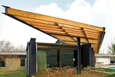 steel and wood trellis - Google Search