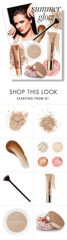 """""""summer glow"""" by lovedreamfashion ❤ liked on Polyvore featuring beauty, Topshop, This Works, tarte, Summer, glow, bronzer, summerglow and highlighter"""