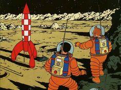 Tintín - Aterrizaje en la Luna
