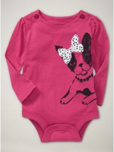 seeing boston terriers on lots of baby clothes