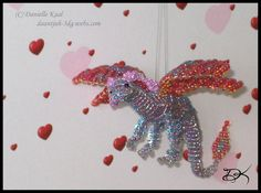 free dragon bead patterns | Beaded Fairy Dragon by Delinlea