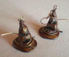 Sorting Hat earrings, Harry Potter inspired