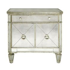 These are my night stands in my Master Bedroom (Borghese Mirrored Side Chest from Z Gallerie)