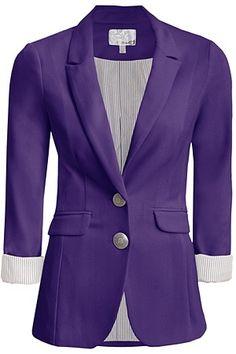 Cute purple boyfriend blazer .