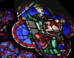 Rose ouest de la cathédrale Notre Dame de Paris, vitrail du dromadaire