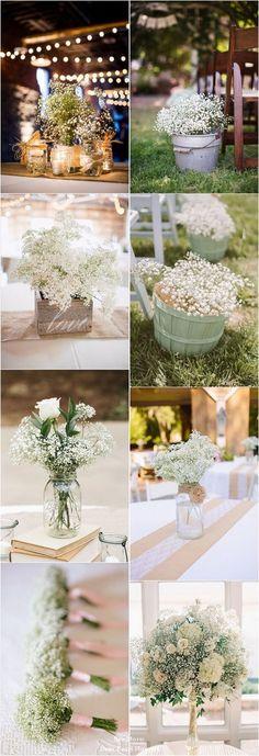 68 Baby's Breath Wedding Ideas for Rustic Weddings / http://www.deerpearlflowers.com/68-babys-breath-wedding-ideas-for-rustic-weddings/