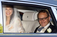 Sophie Winkleman with her father on the way to her wedding to Lord Frederick Windsor