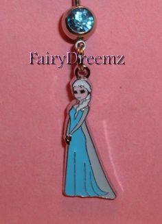 Princess Elsa From Frozen Disney Belly Navel Ring by FairyDreemz, $9.00