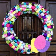 Ribbon wreath minus the eggs for summer?