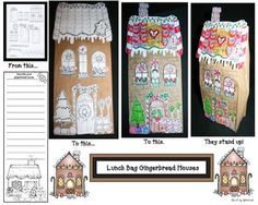 ... house centers, gingerbread house writing prompts, gingerbread house