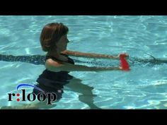 Water exercise using the rloop resistance band for aquatic therapy or fitness - YouTube