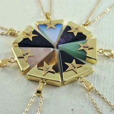 This would be the cutest idea ever for BFF necklaces!!