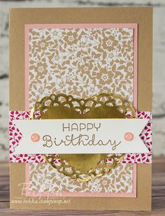 Stampin' Up! UK Feeling Crafty - Bekka Prideaux Stampin' Up! UK Independent Demonstrator: New Catalogue Countdown Sneak Peek - 2 days to go. A Love Blossoms Birthday Card two ways