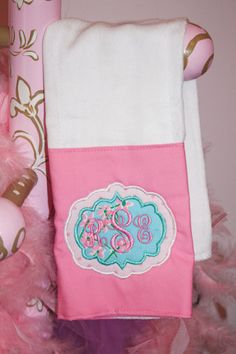 Vintage Lilly Pulitzer Monogrammed Burp by CottonCandyCottage, $18.00