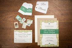 green wedding paper goods // photo by Meghan Christine via ruffledblog.com