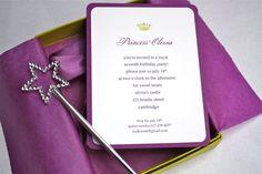 Purple Princess Crown Birthday Party Invitation von StillRiverPress
