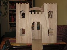 An unpainted wooden castle shell from Michael's... $15 with a 50% off coupon