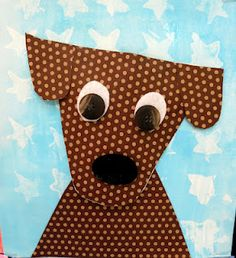 "Cute dog craft and P said ""We should make that dog!"""