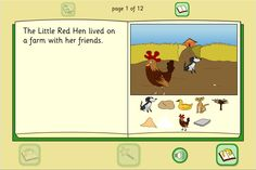 Little Red Hen Story Book: The traditional tale of the Little Red Hen, retold with a simple text, colourful illustrations and full sound support.